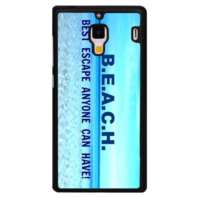 Y&M Blue Beach Letters Phone Case For Red Mi 1S Light Blue