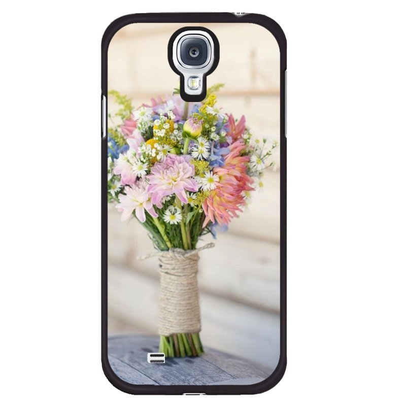 Y&M Cell Phone Case For Samsung Galaxy S4 Beautiful Flowers Pattern Cover (Multicolor)