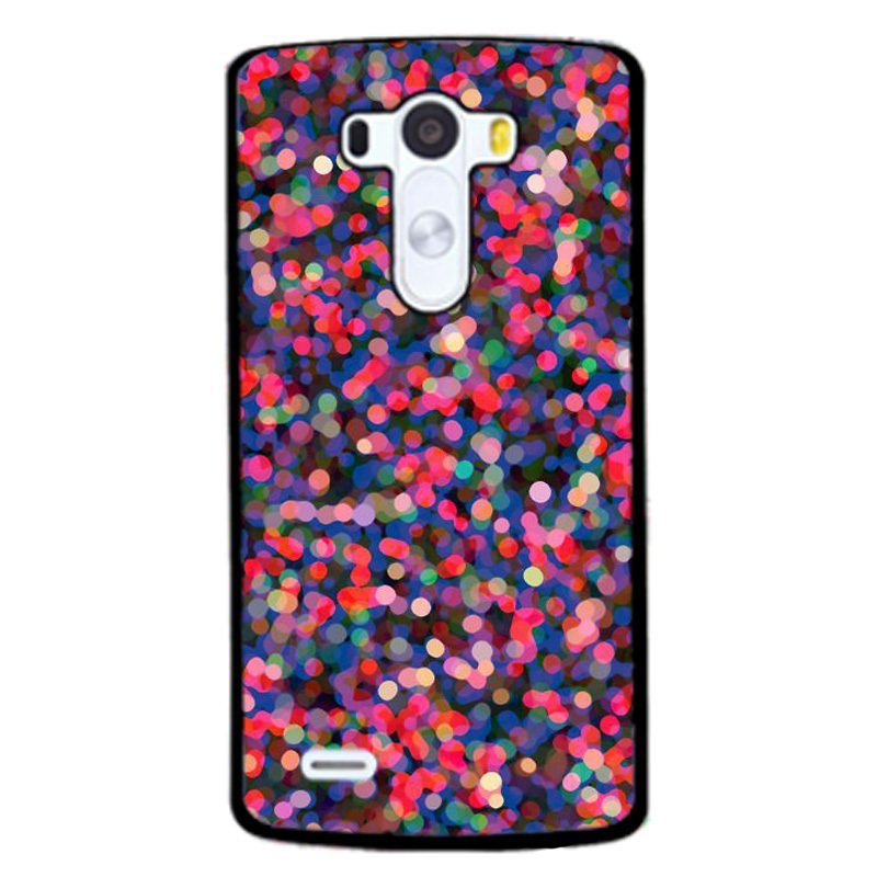 Y&M Colorful Bling Dots Case for LG G3 (Black)