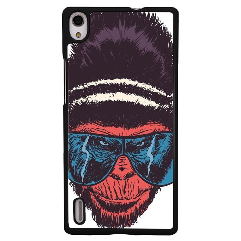 Y&M Cool Red Face Monkey Pattern Cell Phone Cases For Huawei Ascend P7 (Multicolor)