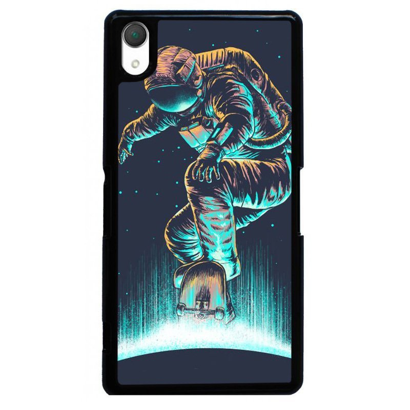 Y&M Cool Spaceman Painting Case for SONY Xperia Z1 (Black)
