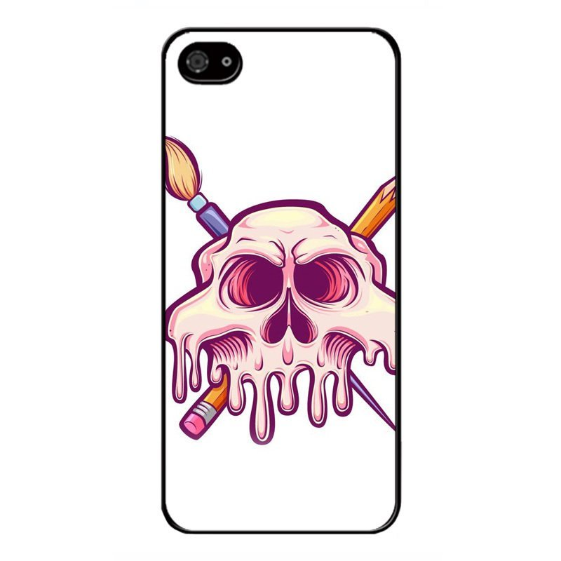 Y&M Creative Pink Skeleton Pattern Cell Phone Cases For iPhone 4/4s (Multicolor)