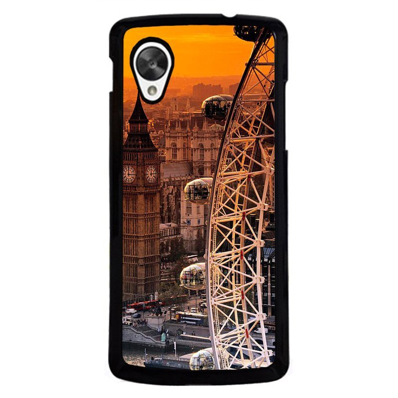 Y&M Ferris Wheel City Phone Cover for LG Nexus 5 Black