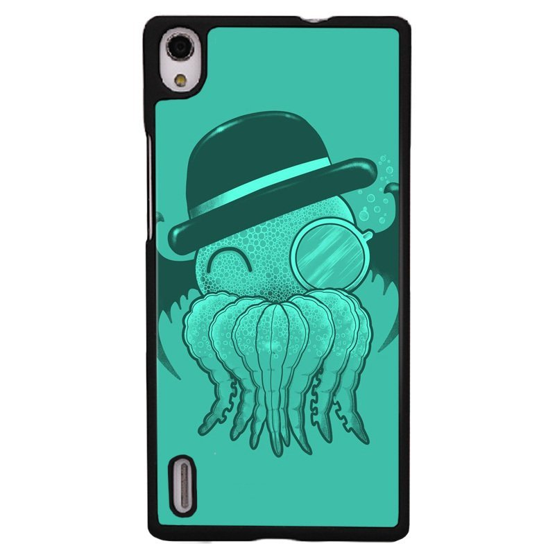 Y&M Green Kawaii Octopus Pattern Cell Phone Cases For Huawei Ascend P7 (Multicolor)