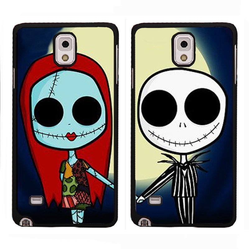 Y&M Jack and Sally XiaoMi RedMi Note Couple Phone Cover (Multicolor)