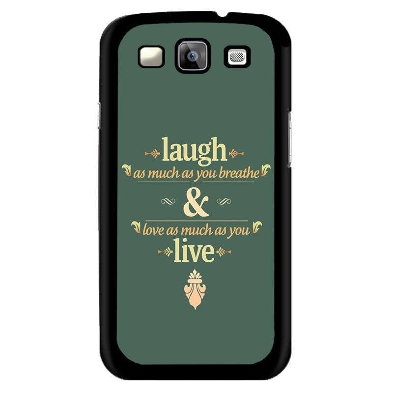 Y&M Laugh And Live Letters Phone Covers for Samsung Galaxy Grand 2 (Multicolor)