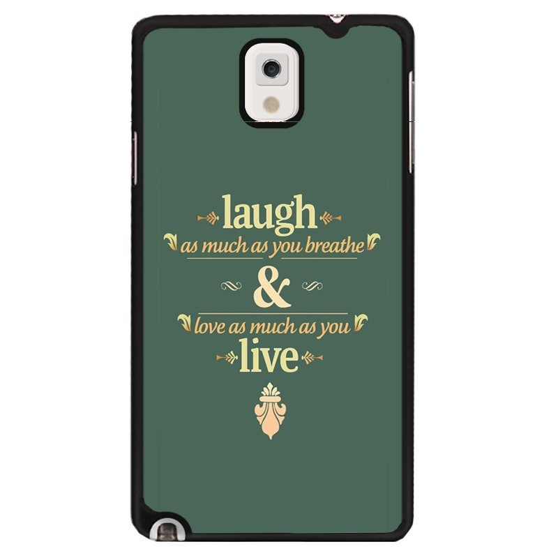 Y&M Laugh And Live Letters Phone Covers for Samsung Galaxy Note 3 (Multicolor)