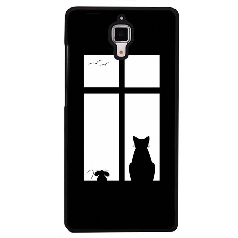 Y&M Mouse Cat In Window Phone Case for HTC M7 Multicolor