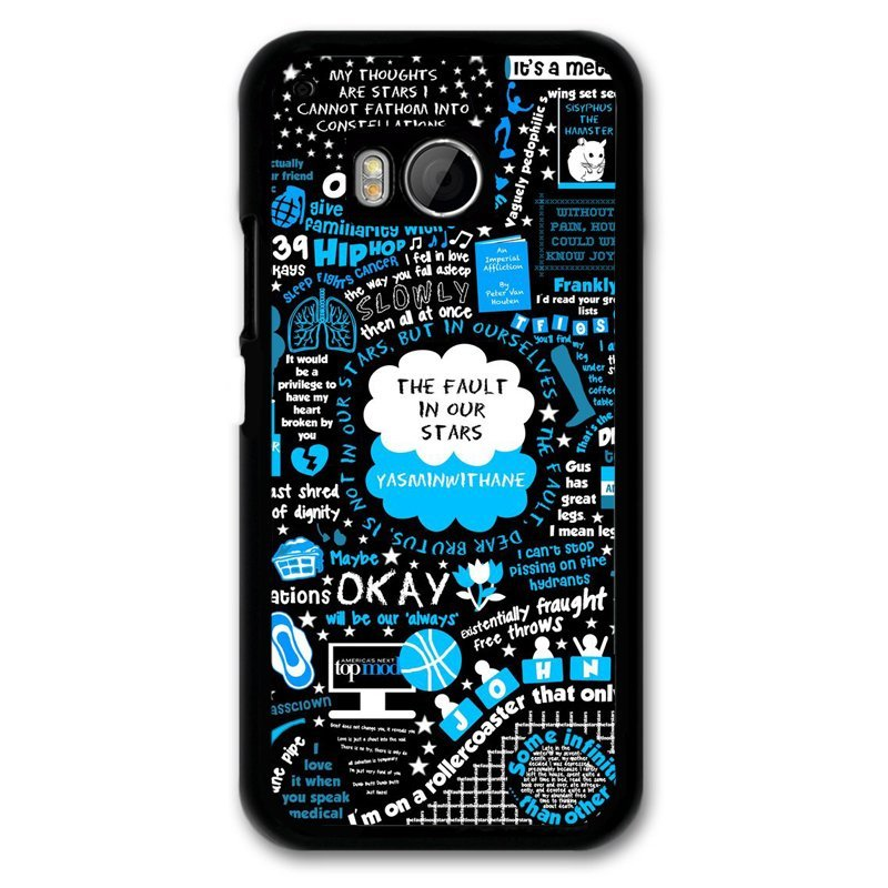 Y&M Okay Letter Pattern Phone Case for Htc M9 (Black)
