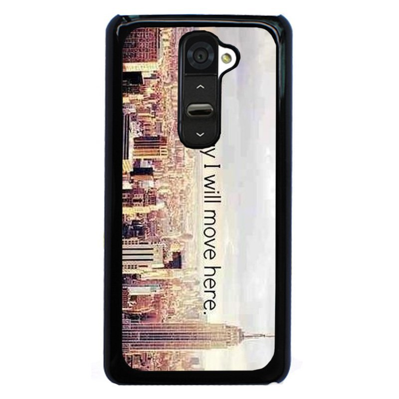 Y&M One Day I Will Move Here London Pattern Phone Case for Lg G2 Black