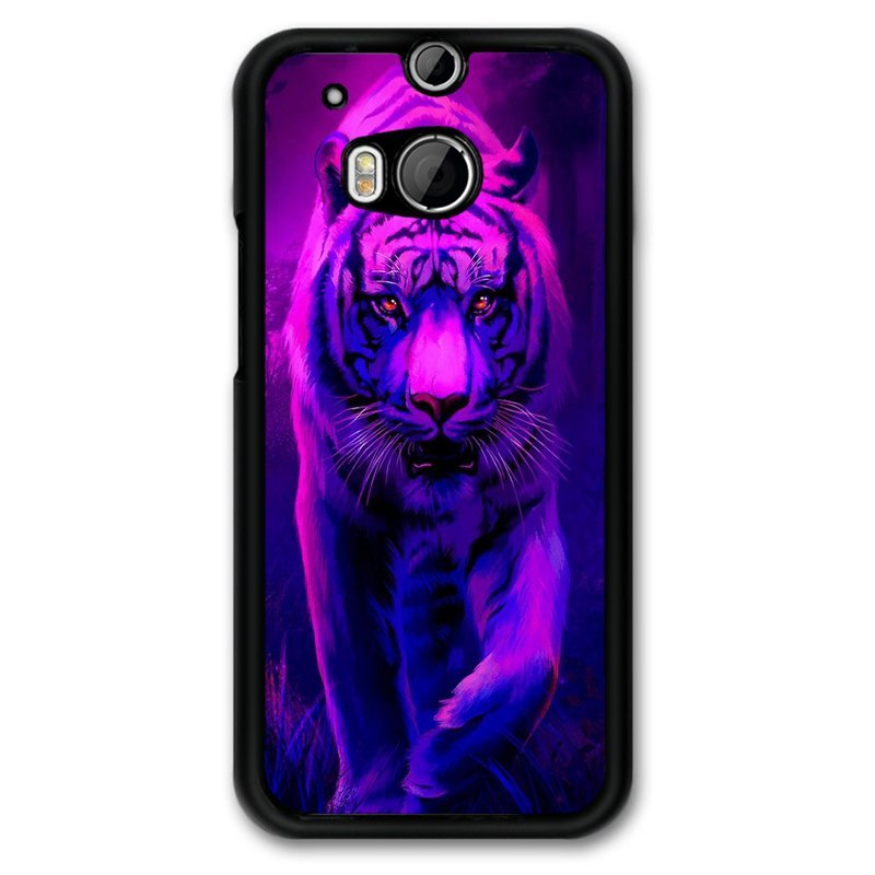 Y&M Purple Tiger HTC M8 Phone Cover (Multicolor)