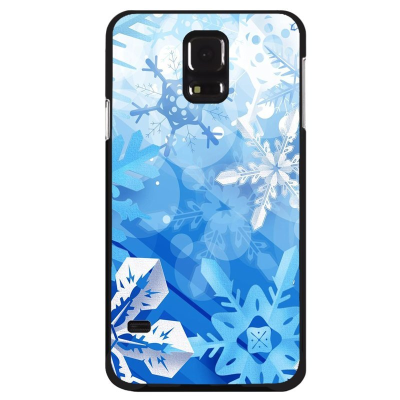 Y&M Samsung Galaxy S5 Mini White Snow Flowers Phone Case (Multicolor)