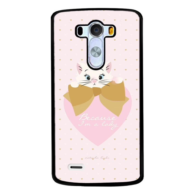 Y&M White Cat Letters Phone Shells for Lg G3 (Multicolor)