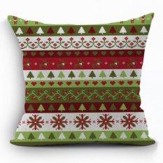 Yazilind New Arrivel Folk Style Pattern Decorative Pillowcase Room Sofa Home 45*45CM / 17.55*17.55 Inch (Intl)