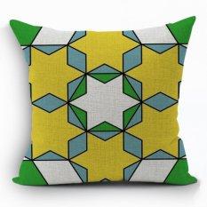 Yazilind New Fashion Style Geometry Pattern Decorative Muticolor Pillowcase Room Sofa Home 45*45CM / 17.55*17.55 Inch