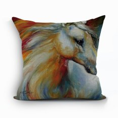 Yazilind New Style Abstract Horse Pattern Decorative Pillowcase Room Sofa Home 45*45CM / 17.55*17.55 Inch (Intl)