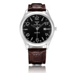 YAZOLE 309 Men Business Leather Band Analog Quartz Watch (Intl)