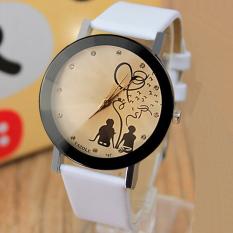 YAZOLE Lovers' Quartz Watch Men Wrist Watches Wristwatch Fashion Quartz-watch Unisex Clock Big White Dial (White Strap) - Intl