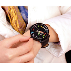YAZOLE Unisex Business Quartz Leather Wrist Watch (Black) - Intl