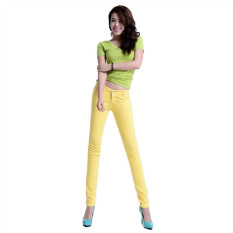 Yellow 2016 New Arrived Womens Jeggings Size 26-31 Ladies Fit Skinny Coloured Stretchy Trousers Jeans Casual Summer Autumn Pants Colours - Intl
