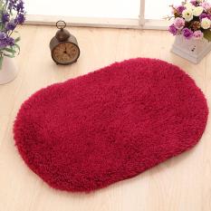 Yika 40*60cm Soft Kitchen Bathroom Door Floor Non-Slip Mat Carpet Rug (Wine Red)