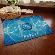 Yika Absorbent Soft Coral Velvet Non-Slip Bathroom Floor Mat Rug Football Team Napoli (Multicolor)