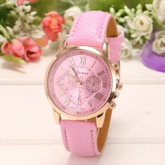 Yika Women Round Multi Dial Quartz Analog Watch (Pink)