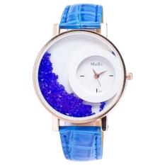 Yika Women Synthetic Leather Strap Quartz Analog Wrist Watch (Light Blue)