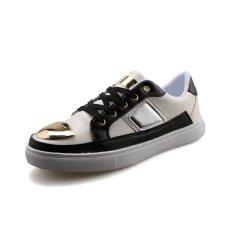 YINGLUNQISHI Men's Fashion Casual Lace Up Leather Shoes (White) (Intl)