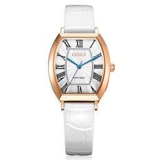 YJJZB CITOLE / Ladies Watch Vintage Belt West Teng Barrel Type Fashion Fashion Quartz Watch