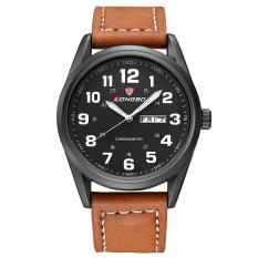 YJJZB Hot Brand LONGBO Genuine Leather Watch Men Waterproof Luminova Quartz Watch Sport Business Calendar Montre Men Watches Clock