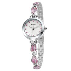 YJJZB New Genuine KIMIO Quartz Watch Korean Fashion Watch Bracelet Table Fine Beauty KW535S (Pink)