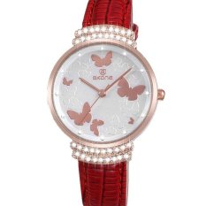 YJJZB New Watch Korean Female Minimalist Fashion Watch Belt Quartz Waterproof Watch Fashion Diamond Watch