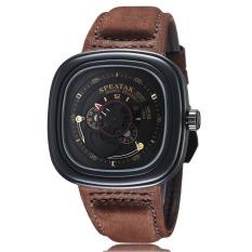 YJJZB SPEATAK Watch Fashion Personality Turbo Automatic Square Man Watch Casual Belt Quartz Watch