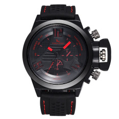 YJJZB Speed Sell Through Burst Paragraph SPORT FORZA Brand Men's Business Sports Table Double Crown Decorative Watch Wholesale