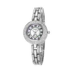 YJJZB Watch Female Models Genuine YAQIN Yaqin Female Watch 7218 Fashion Female Models Bracelet Watch Fashion Ladies Watches (Silver)