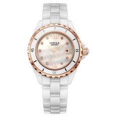 YJJZB White Ceramic Ladies Watch Watch West Teng Limited Gift Red Original Watch Strap 808 Wholesale Agent