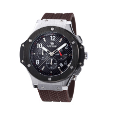 Yooc MEGIR Mountaineering Outdoor Sports Watches Authentic Fashion Waterproof Quartz Watch Men And Women Couple Models 3002G (Silver)