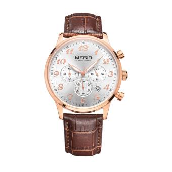 Yoouino MEGIR Male Watch Three Men Watch Quartz Watch Sports Watch Waterproof Luminous Watches 2022G (Black)