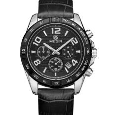 Yoouino MEGIR Three Men Male Watch Waterproof Sports Watch Watch 2014 (Black)