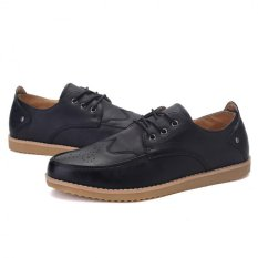 "Young British Men""s Business Casual Shoes Breathable Lace Shoes Influx Of Men (Black) ' - Intl"