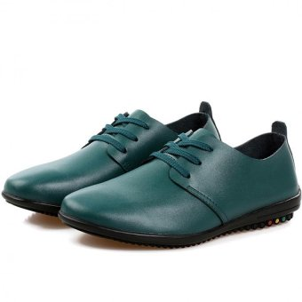 "Young British Men""s Business Casual Shoes Breathable Lace Shoes Influx Of Men (Green) ' - Intl"