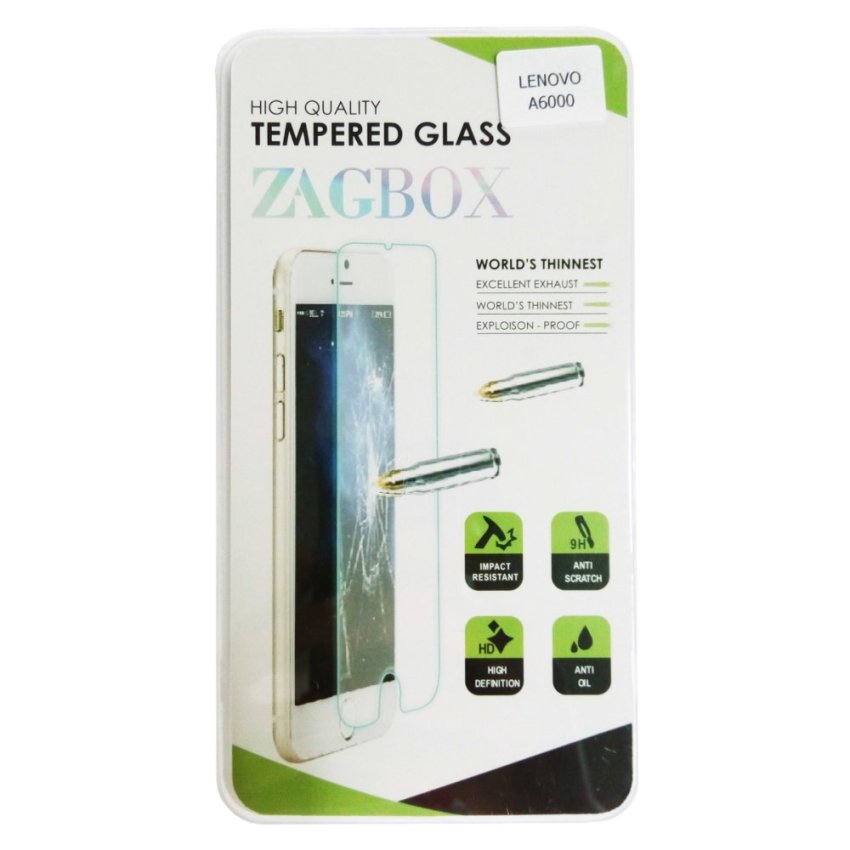 ZagBox Tempered Glass Protector for Lenovo A6000 Plus