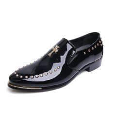ZNPNXN Leather Men's Fashion Fromal Low Cut Shoes (Black) - Intl