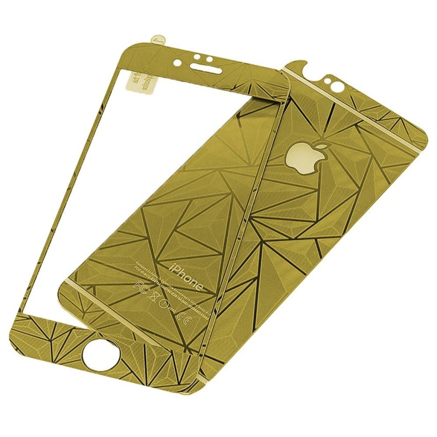 Zona Tempered Glass 3D Diamond Untuk iPhone 6 - Gold