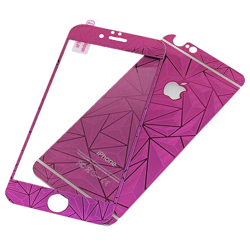 Zona Tempered Glass 3D Diamond Untuk iPhone 6 - Ungu
