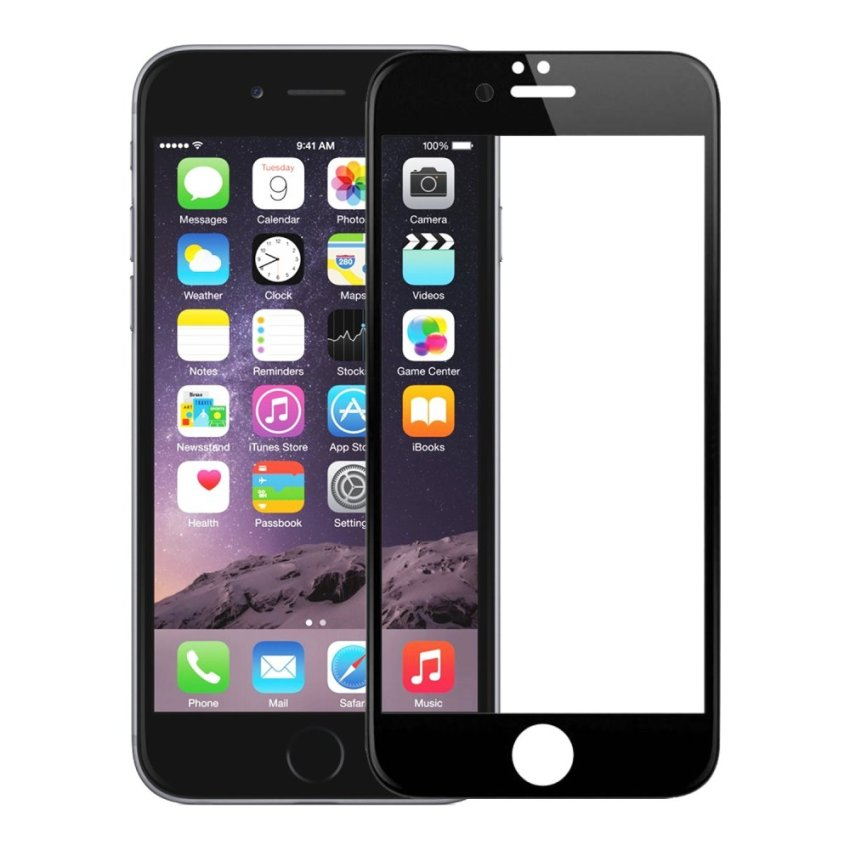 Zona Tempered Glass Full Frame for iPhone 6 Plus - Hitam