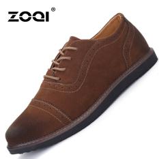 ZOQI Summer Man's Formal Low Cut Shoes Fashion Casual Comfortable Shoes-Brown