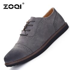 ZOQI Summer Man's Formal Low Cut Shoes Fashion Casual Comfortable Shoes-Grey