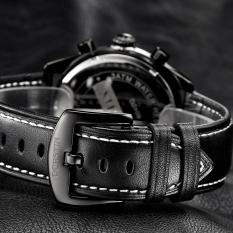 Zuigeili OCHSTIN Genuine Swiss Watch Male Sports Brand Luxury Watches Men's Waterproof Leather Quartz Watch 6-pin (White) - Intl